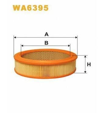 Фільтр повітряний 2101 WIX WA6395 (без повсті) 2101-1109100, 2101-1109100-01