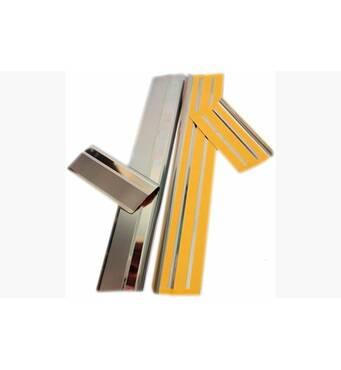 Накладки на пороги Натанико премиум (4 шт., нерж.) - Opel Movano 2004-2010 гг. купить в Днепре