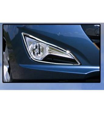 Хром на противотуманки (2 шт, нерж.) - Hyundai I-40 купити в Харкові