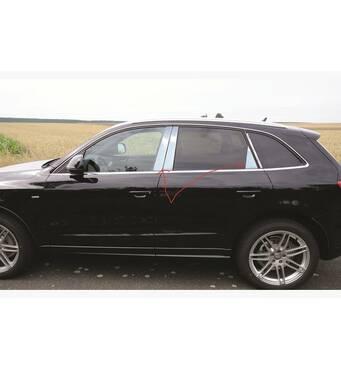 Молдинги дверных стоек (нерж.) - Audi Q5 2008-2017 гг. купить во Львове