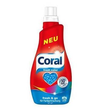 НОВИНКА гель для прання кольорової білизни Coral Fresh Color, 24 прання, 1,2 л, Німеччина