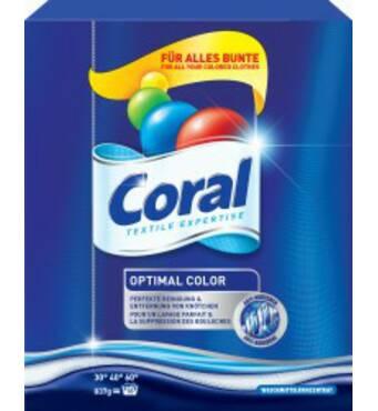 CORAL порошок для прання кольорової білизни, 18 прань, 837 г Німеччина