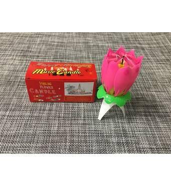 Свеча-цветок для торта музыкальная / Ali-20
