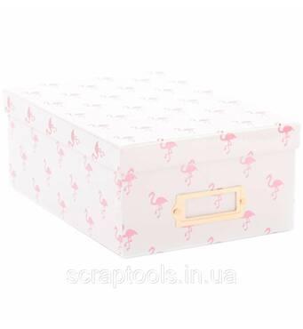 Коробка для хранения DCWV - Pink Foil Flamingos