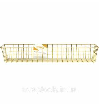 Органайзер от Crate Paper - Wire System Metal Storage Bin - Medium Gold