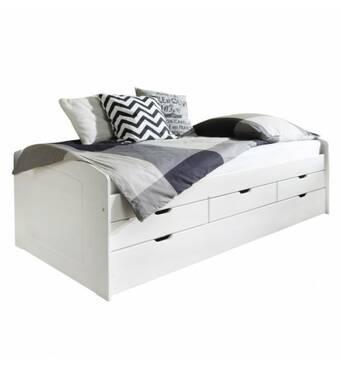 Кровать с выдвижным спальным местом и ящиками
