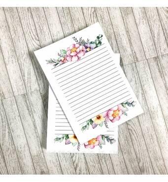 Набор листов в блокнот А5, двухсторонняя печать - дизайн 1