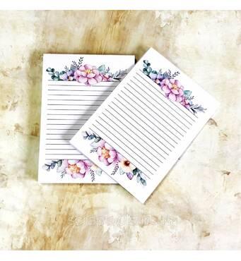 Набор листов в блокнот А6, двухсторонняя печать - дизайн 1