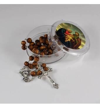 Четки бусы католические ароматические деревянные розарий коричневые