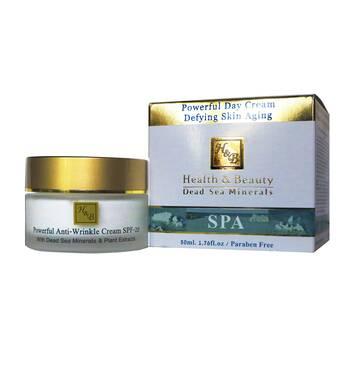 Денний крем для обличча Health&Beauty запобігаючий появі зморшок з SPF-20 Powerful Anti-Wrinkle Cream SPF-20, 50 мл.