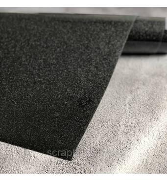 Термотрансферная плівка глиттер, колір чорний 10*25 cм
