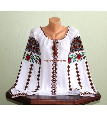 Буковинська вишиванка жіноча, ручна робота.