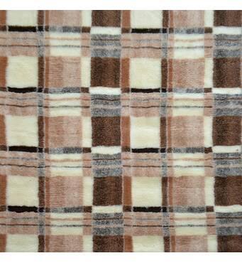 Одеяло из овечьей шерсти, 2х2,2 м. Расцветка Клетка