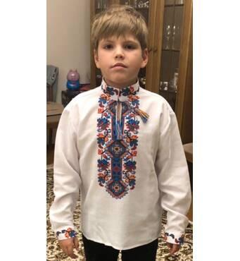 экслюзивная вышитая рубашка для мальчика
