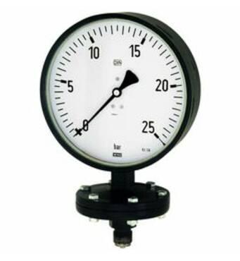 Robust diaphragm pressure gauges, connection radial on bottom - K-PRMM ROB U