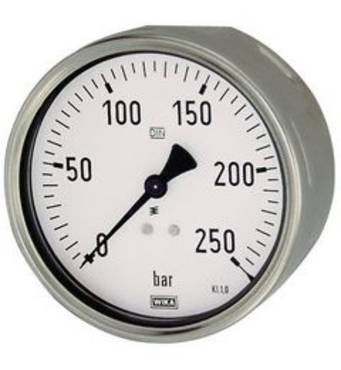 Robust pressure gauges, connection on rear, eccentric - K-MANO ROB H