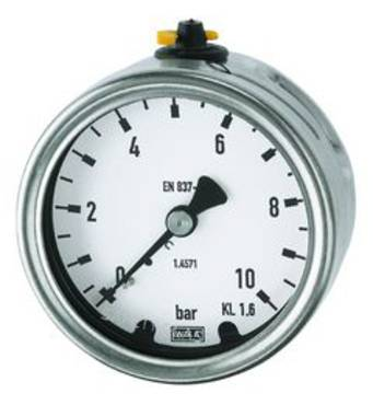 Pressure gauges (CrNi steel type / connection on rear) - K-MANO