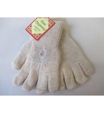 В'язані подвійні рукавички для жінок.