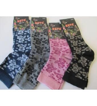 Трикотажные носки в цветочек для женщин