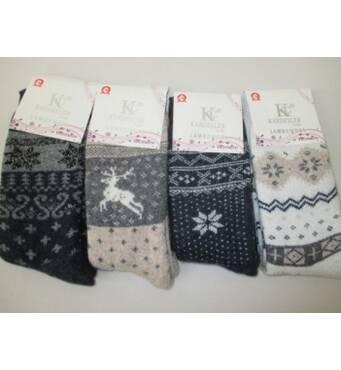 Женские теплые шерстяные носки.