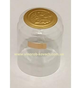 Термоусадочний ковпачок прозорий, золотий капелюшок, короткий купити в Україні