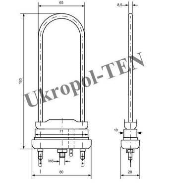 Электронагреватель трубчатый для стиральных машин 4402-701