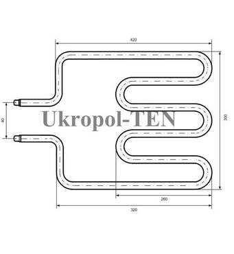Электронагреватель трубчатый для нагрева воздуха