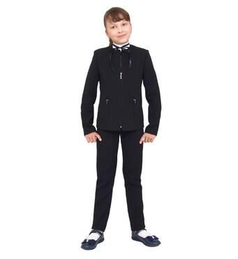 """Пиджак школьный для девочки м-239 черный рост 134 140 164 тм """"Попелюшка"""""""