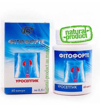 Уросептик Фітофорте, 60 капс.
