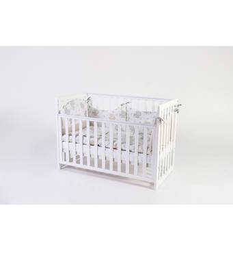 Ліжко дитяче Соня ЛД13 без колiс, на нiжках, зйомна спиця (біле)