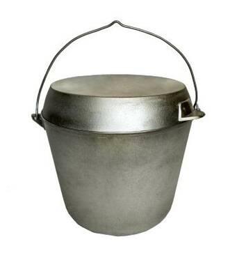 Казан рибальський з кришкою-сковородою 12 л (А:217)