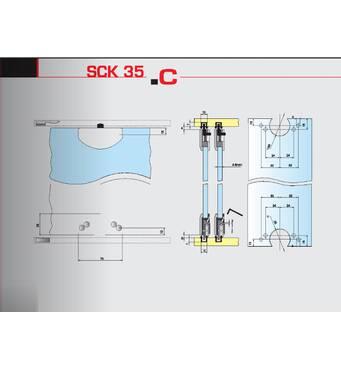 Раздвижная система для шкафных отделений нижнего опирания SCK35С