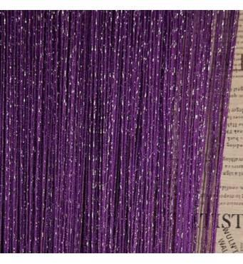 шторы нити однотонные дождь номер 205 фиолетовые