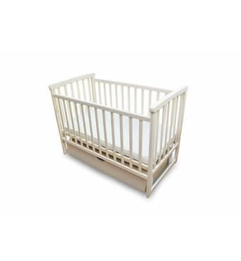 Ліжко дитяче Bimbi з опускною боковиною та шухлядою, ваніль