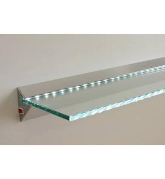 Полка с подсветкой стеклянная