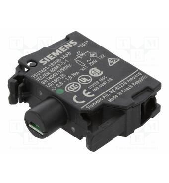 Модуль подсветки с интегрированным светодиодом 230В AC, зелёный свет, 3SU1401-1BF40-1AA0, Siemens