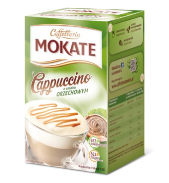 Капучіно Mokate Сaffetteria Cappuccino  Hazelnut, 15гx10 шт