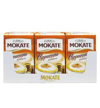 Капучино Mokate Сaffetteria Cappuccino Rum, 15г*10шт, 9 уп.
