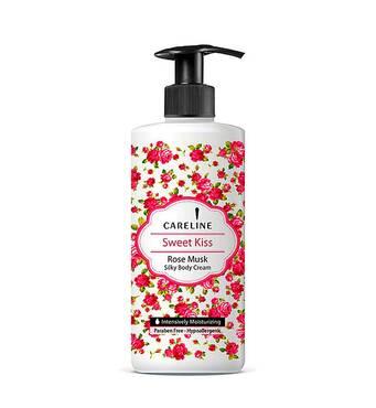 Крем для тіла зволожуючий Careline з ароматом мускусної троянди Body Cream Sweet Kiss 400 мл.