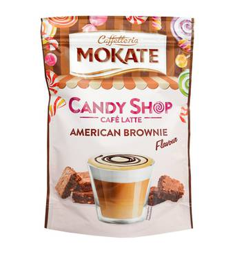 Капучіно Mokate Caffetteria Candy Shop Cafe Latte American Brownie, 110г.