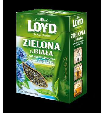 Чай листової Loyd, зелений і білий, з яскраво-червоне віра і пелюстками волошок, 80 г