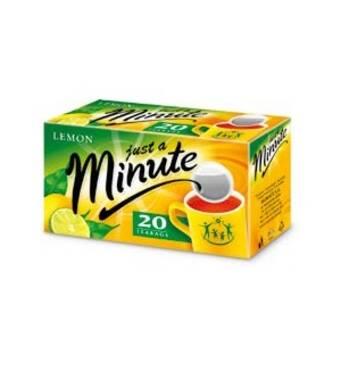 Чай в пакетиках Just a Minute, чорний з лимоном, 1,4g*20 шт