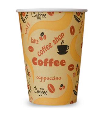 """Паперова скляночка для вендинга """"Coffe Shop"""", 175 мл"""