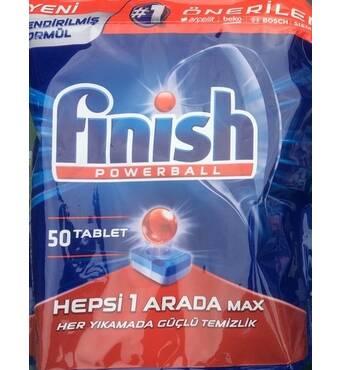 Таблетки для посудомийних машин FINISH All in 1 max Powerball  50 шт