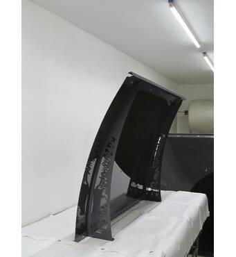 Металевий збірний дашок Dash'Ok Хайтек 2,05 м*1 м з сотовим полікарбонатом 6 мм купити в Тернополі