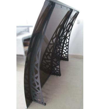 Металевий збірний дашок Dash'Ok Хайтек 2,05 м*1 м з монолітним полікарбонатом 4 мм купити в Івано-Франківську