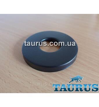 """Чорний круглий об'ємний декоративний фланець, латунь, розмір D54 мм х висота 6 мм, під внутрішній розмір 1/2""""."""