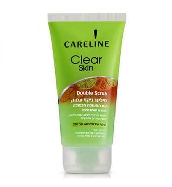 Скраб для лица с двойным действием для глубокой очистки. Careline Clear Skin Double Scrub 150 мл.