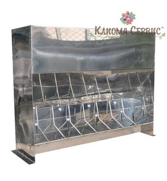 Годівниці для поросят (від 10 - 50 кг) для дорощення 8 секцій (нержавіюча сталь)