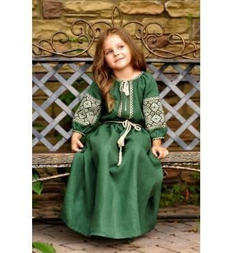 Дитяча сукня з натурального льону